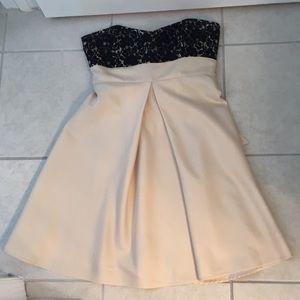 Gold Strapless Dress